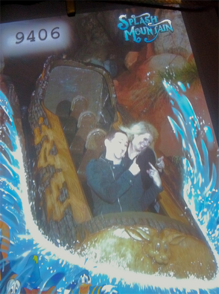 Jenn and I Riding Splash Moutain Alone