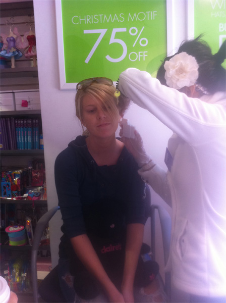 Jenn Getting Her Ears Re-Pierced on New Years Day