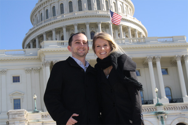 Jenn and I In Front of the US Capital Building