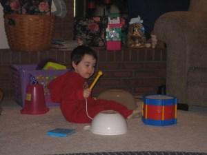 drums set up by Nana