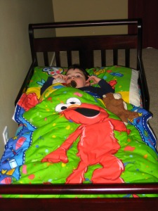 elmo bedding from nana!