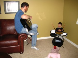 jamming with daddy