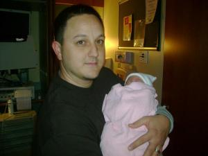 joey and delia - his first niece!