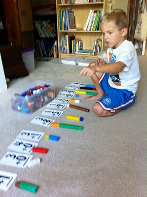 Fun with Unifix Cubes from Fun Math Games from Weekend Links on HowToHomeschoolMyChild.com