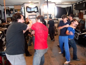 Me & friends at Rory's workshop in last September