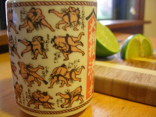 sumo tea cup