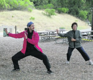 Tai Chi class at the Lafayette Reservoir Photo Cathy Tyson