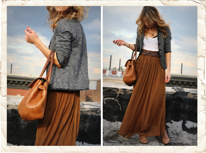 Long Skirt Outfits with Boots