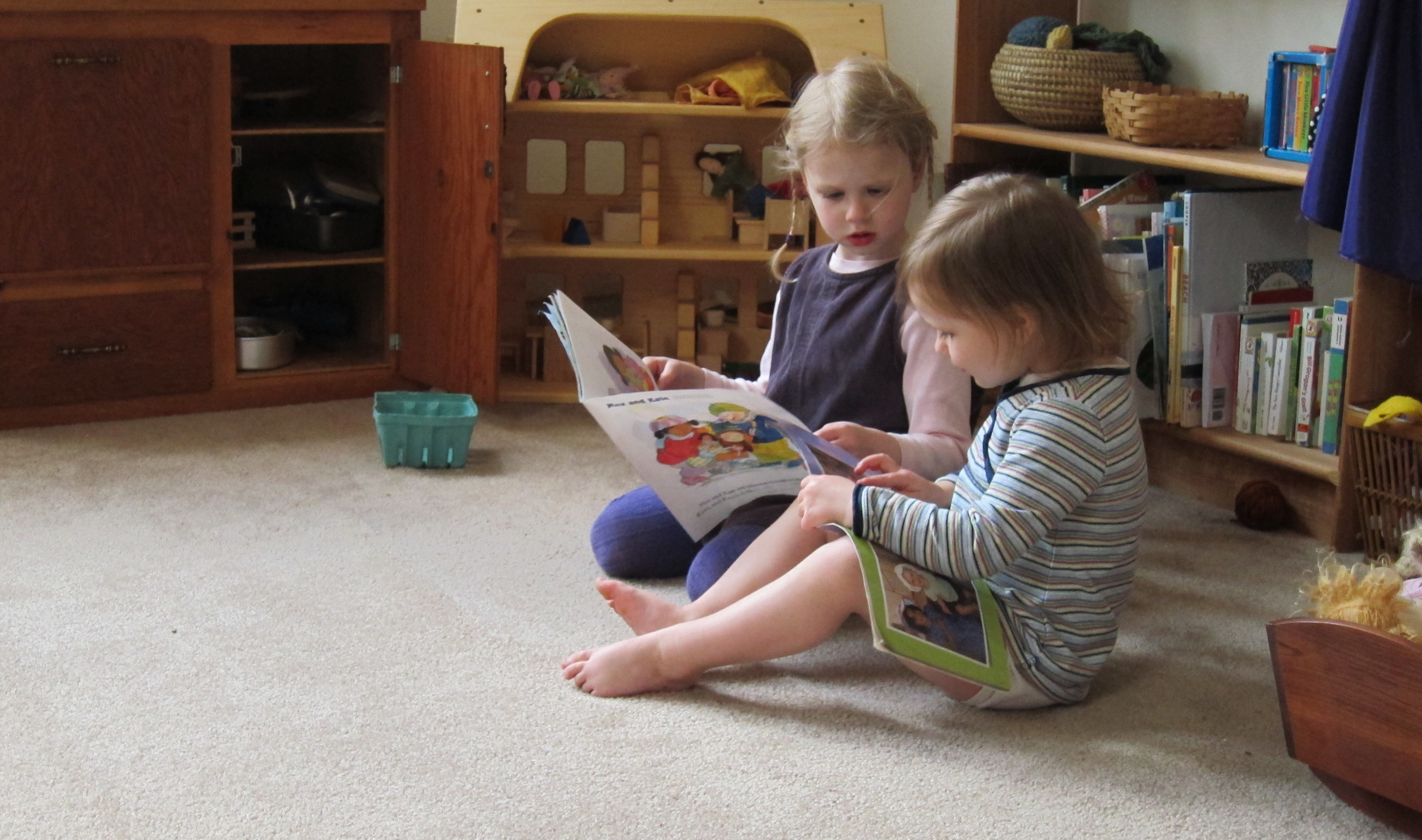 Katherine and Clara Reading