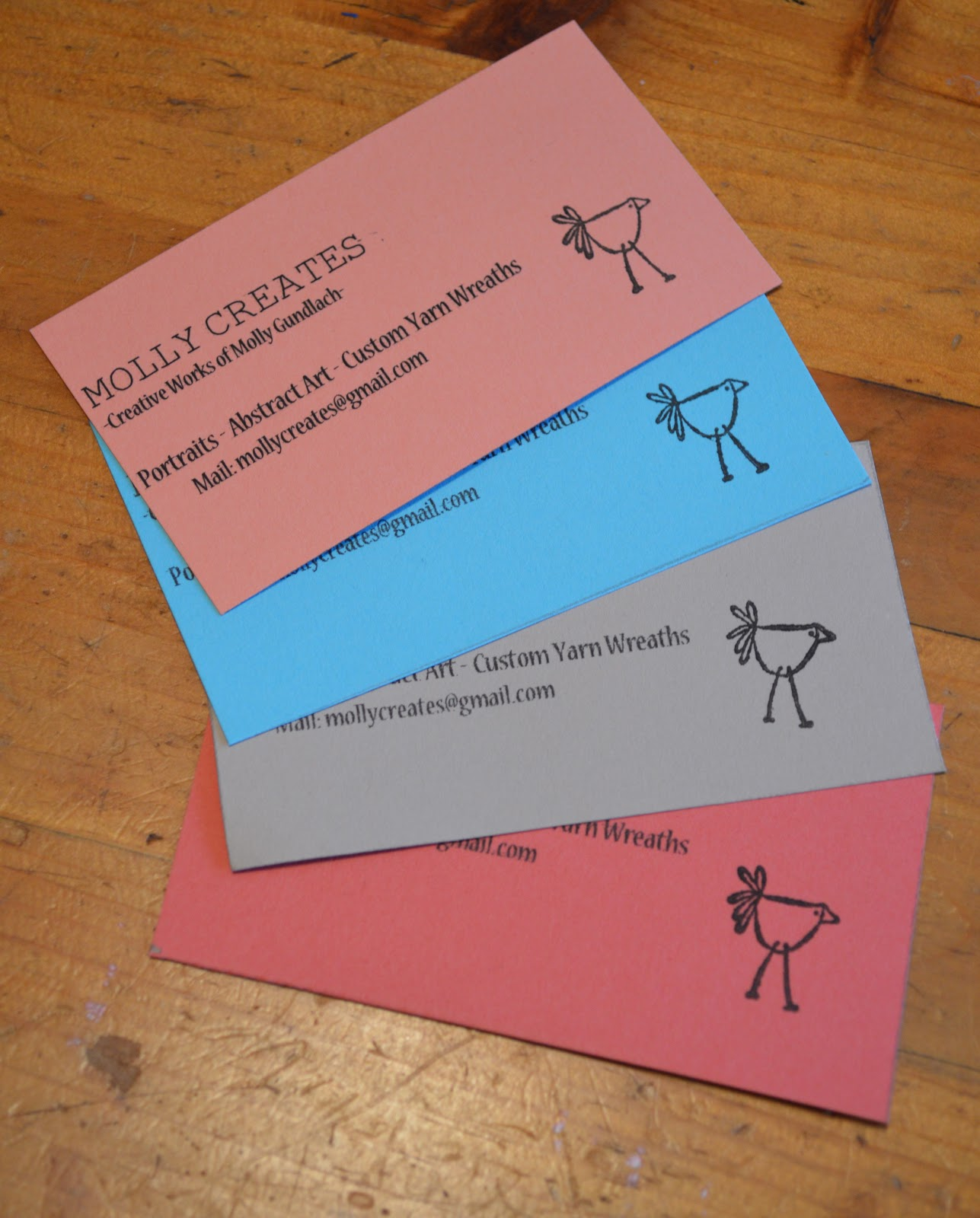 Fast DIY Business Cards - See Molly Create Blog - Molly Creates