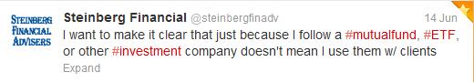 Steinberg Advisers Tweet Image