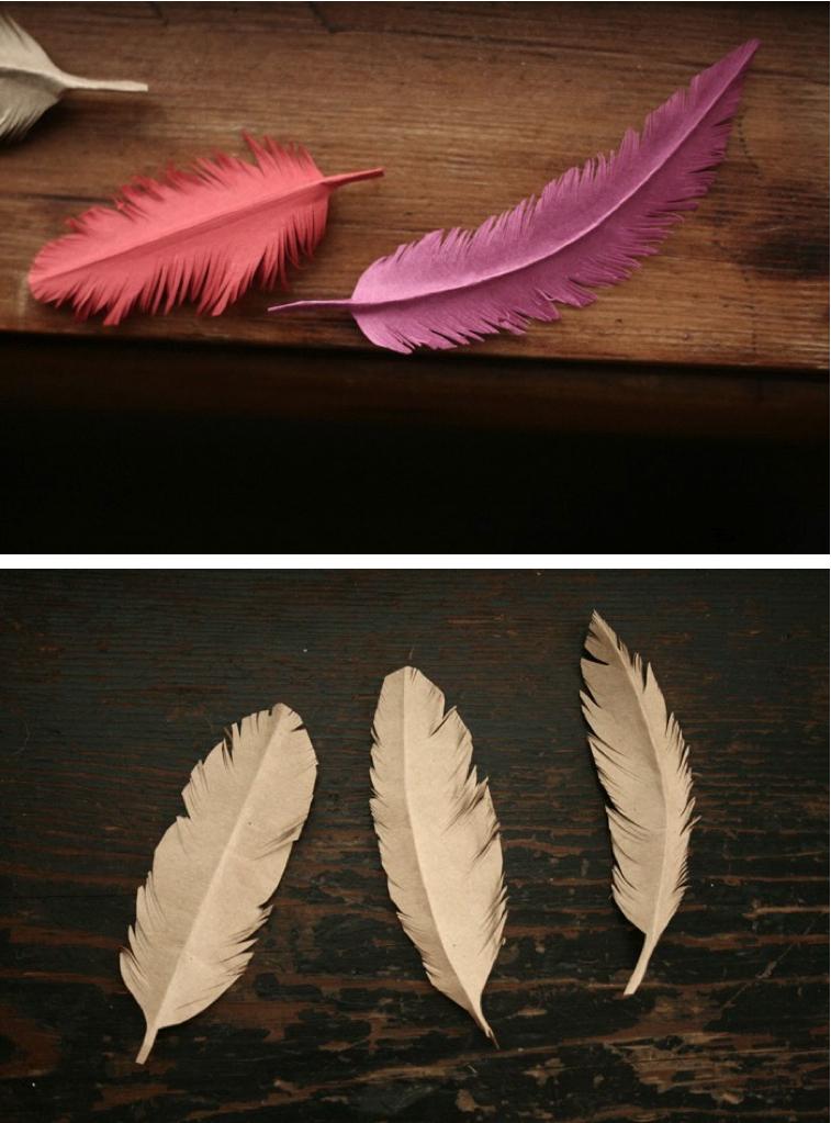 Большие перья своими руками
