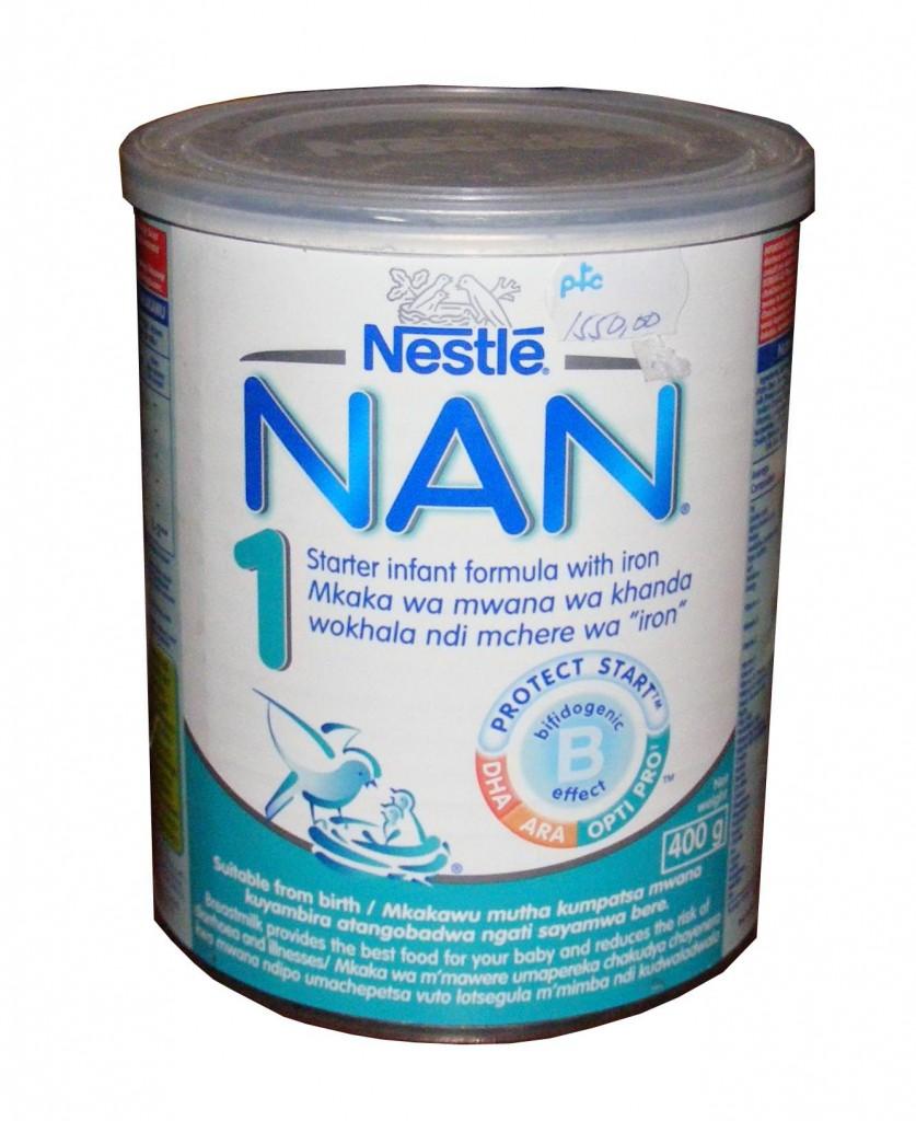Nestle Nan 1 infant formula, Malawi, 27 July 2009