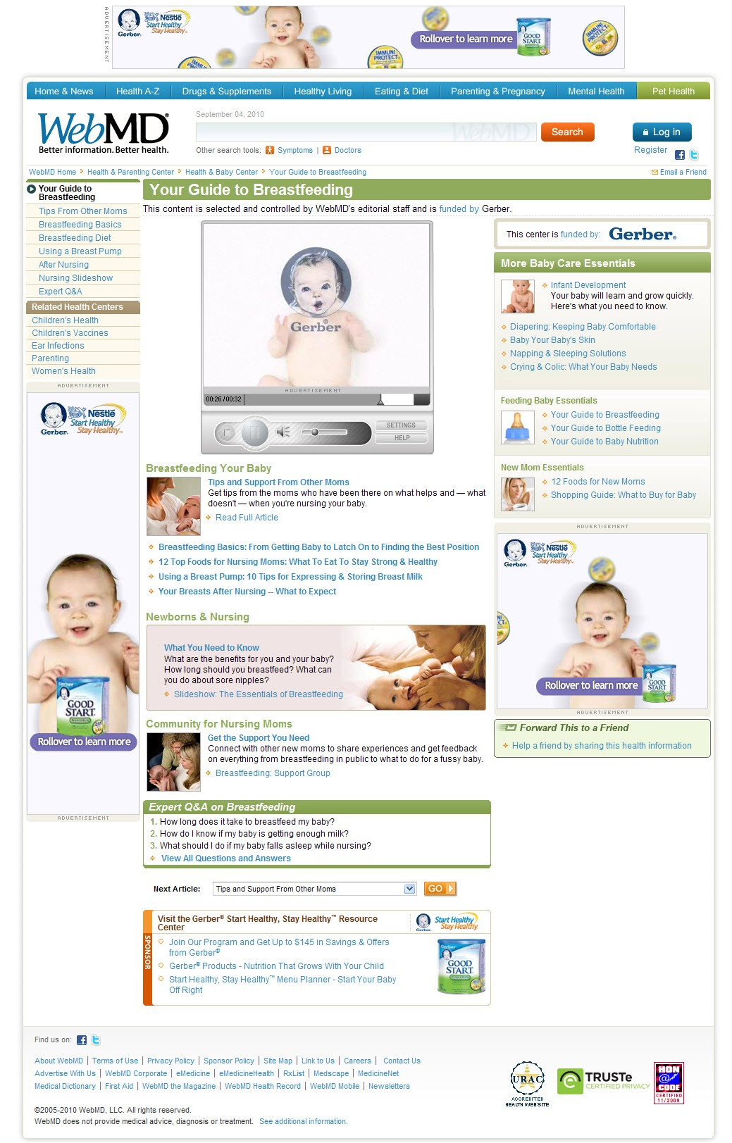 How Many Gerber Ads Can You Count On That Page? I Count At Least 6