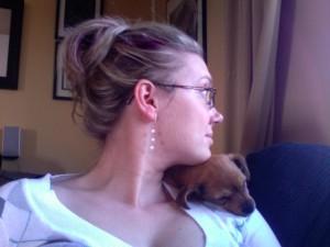 She's a snuggler.