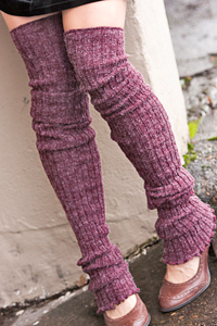 Super-Long Ribbed Leg Warmers