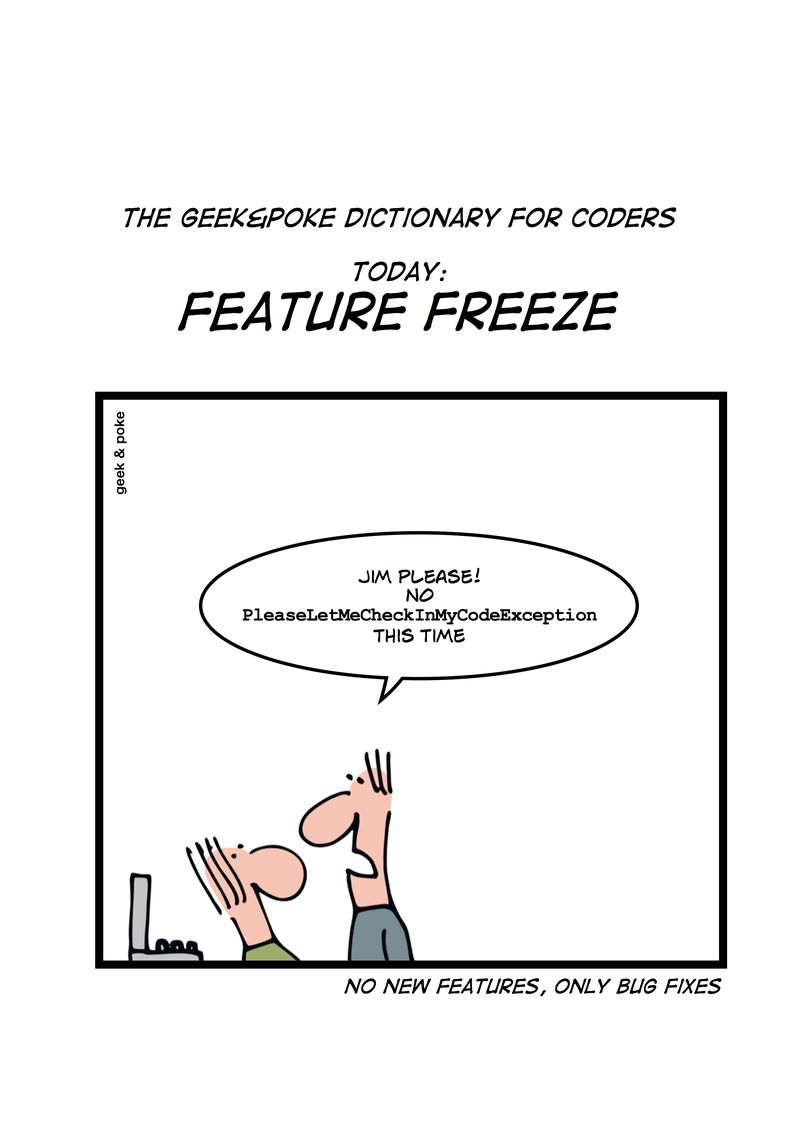 Feature-freeze