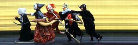 4 Halloween revelers