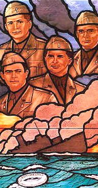 Four Chaplains Stained Glass Window