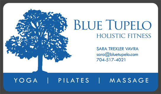 Blue Tupelo: Business Card: front