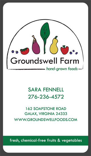 Groundswell Farm: Business Card