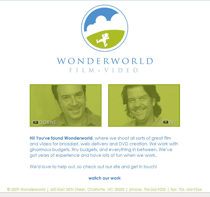 New Site for Wonderworld Film + Video
