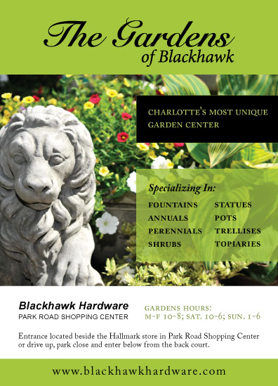 Grocery Cart Ad for Blackhawk Hardware