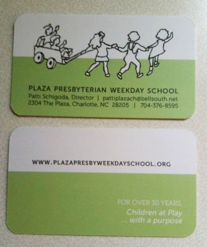 Plaza Presbyterian Weekday School Business Cards