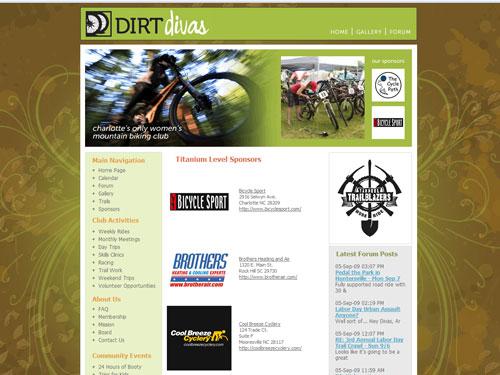 new DirtDivas website