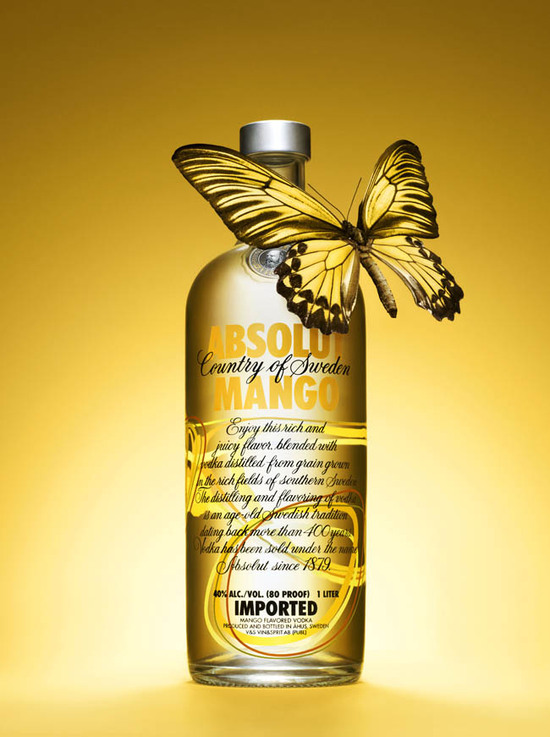 Absolut Mango Packaging