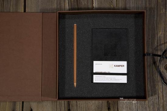 Kamper the dieline packaging branding design for High end interior design firms