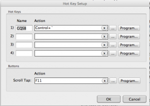 Air Mouse Hot Key Preferences
