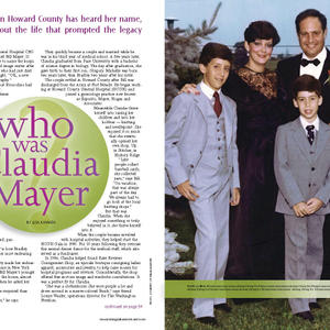 Howard Magazine: Who was Claudia Mayer?