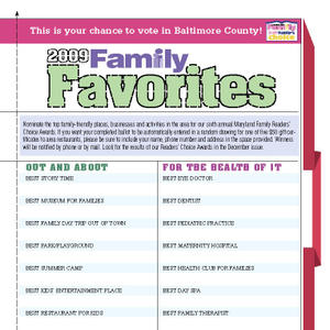 Family Favorites Ballot