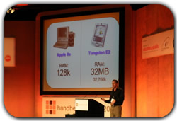 Tony on Stage at Handheld Learning 2006