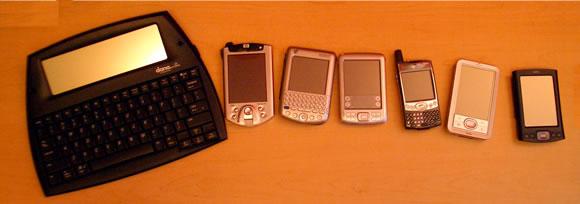 Dana, iPaq h5400, Tungsten C, Zire 72, Treo 600, LifeDrive, & TX