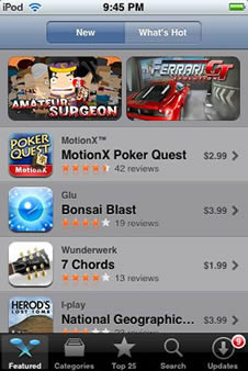 App Store on iPod touch