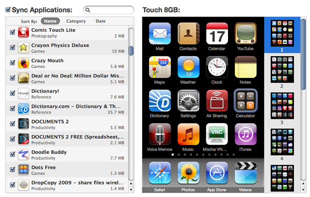 Arrange Icons in iTunes