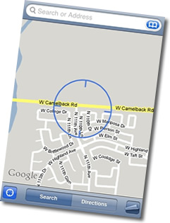 iPod touch Google Maps Location