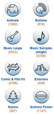 Soundsnap Categories