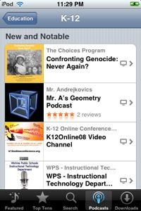 iTunes Education K12