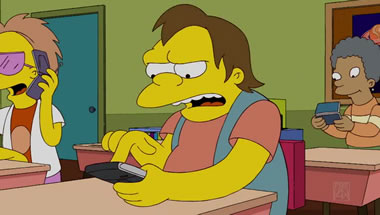 the simpsons and phones in school � learning in hand with