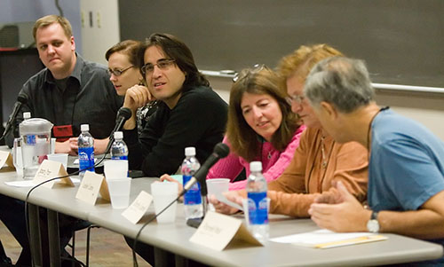 Duane Swierczynski, Megan Abbott, Jason Starr, Leslie Caine, Dorothy Cannell, and Parnell Hall
