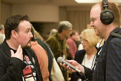 Russel McLean being interviewed by Ed Champion