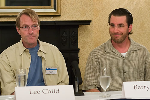 Lee Child and Barry Eisler