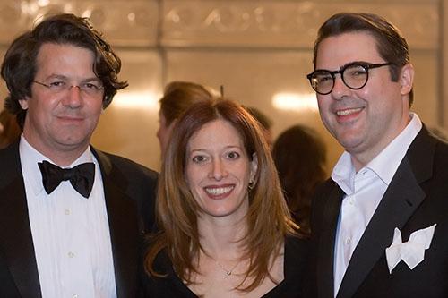 Henry Ferris (Executive Editor, William Morrow), Sharyn Rosenblum (Senior Director of Media Relations, William Morrow), and James Swanson