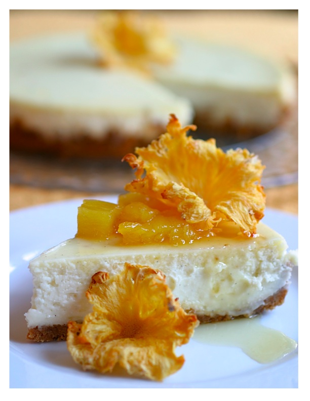 Creme Fraiche Cheesecake With Honey-Rum-Roasted Pineapple Recipes ...