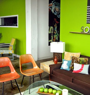 Green walls desire to inspire - Pretty green rooms ...