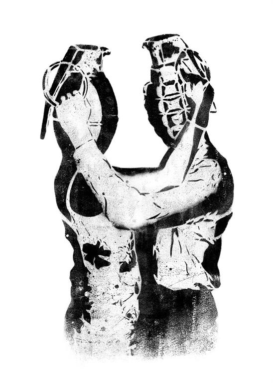 Dolk 'Grenade Lovers' Edition of 150 Size: 50 x 70cm £200 Each