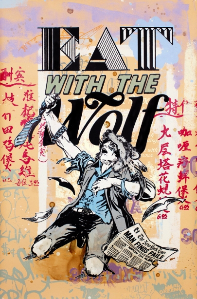 Faile 'Eat With The Wolf' Edition of 20 Size: 25 x 38 Inches [caption id=